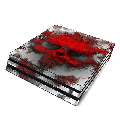 NEW Vinyl Skin for Console PS4 Slim Pro Red Skull Sticker Decal Cover