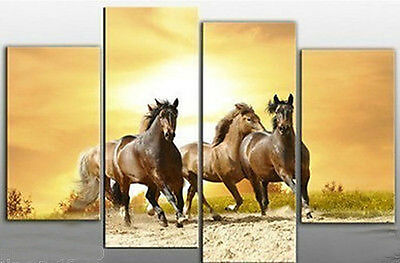4PC horses running modern art wall decoration oil painting (no framed) 11