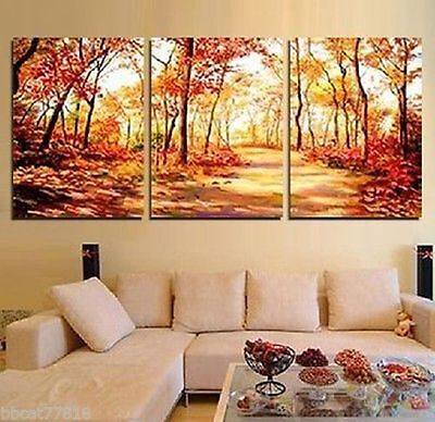 3PC HUGE MODERN ABSTRACT WALL DECOR ART CANVAS OIL PAINTING (No frame)   006