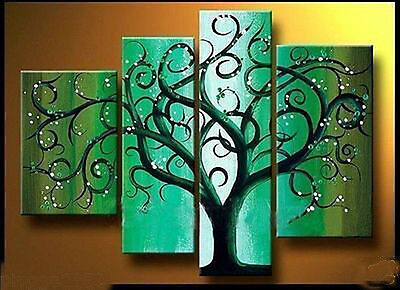 Modern Abstract Huge Art Oil Painting Canvas Large Tree  (No frame)   012