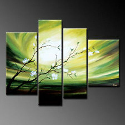 MODERN ABSTRACT WALL DECOR ART CANVAS OIL PAINTING 4pc (No Frame)