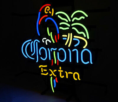 Al006 Corona Extra Parrot Store Beer Bar Club Miller Game Neon Light Sign 16X14""