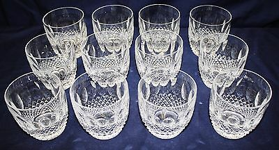 """12 Waterford Crystal Colleen Old Fashioned / Whisky / Rocks Glasses -3 3/8""""H"""