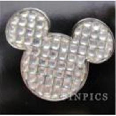 WHITE CUBES JEWELS GEOMETRIC MICKEY Mouse HEAD ICON Disney PIN 109967 NEW