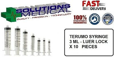 SYRINGE TERUMO 3ml WITH LUER LOCK TIP (X10)