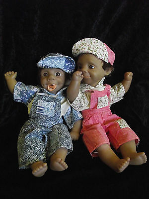 Retro Vintage pair of Gloobee Dolls - (Soft Body, Funny Faces)