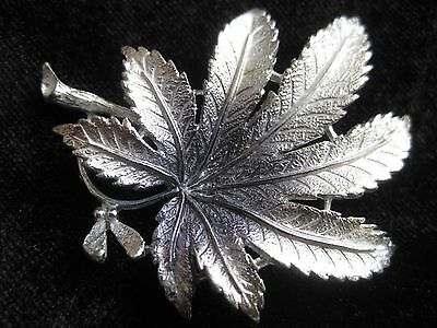 Vintage Brooch Silver Tone Signed Exquisite
