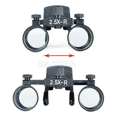 UK Dental Surgical Clip on Binocular Magnifier Loupes 2.5X Loupes for dentist