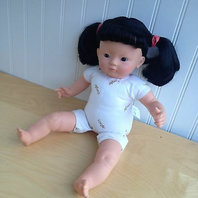 """Corolle Chouquette 2006 KIM ASIAN Doll 14"""" Sweet Friendly Face Black Glossy Hair"""