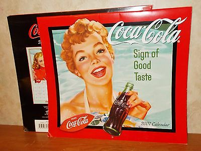 "2007 Coca Cola Wall Calendar - 12"" x 13 1/2"" Folded"