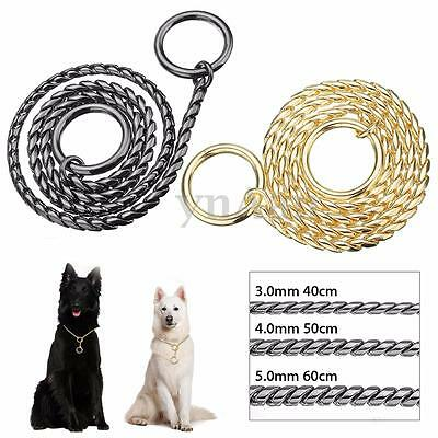 40/50/60cm Snake P Choke Metal Chain Training Dog Pet Collar Lead Leash Necklace