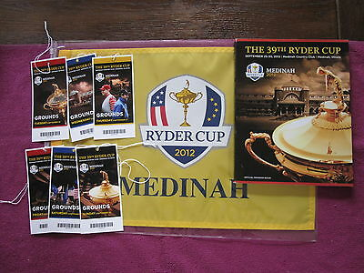Ryder Cup Programme Medinah 2012 -  Plus Tickets and Flag