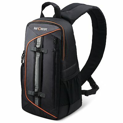 K&F Concept Camera Sling Backpack Bag Case for Canon Nikon Sony w/ Rain Cover