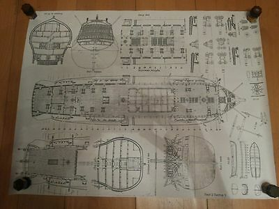 Victory Nelson scale 1:100 Plan Ship model