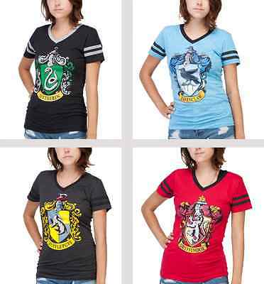 Harry Potter Slytherin Gryffindor Hufflepuff Ravenclaw t-shirt Juniors S-2XL