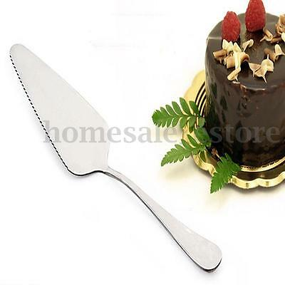 Stainless Steel Toothed Pizza Pie Cake Server Slice Cutter Party Serving Cutlery