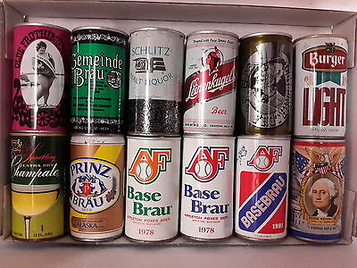 12 Different American Steel Beer Cans ( Lot I)