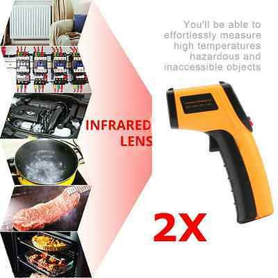 GM320 Handheld Thermometer Non Contact IR Laser Infrared Digital Temperature F6