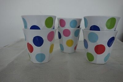Melamine Tumblers in Colourful Spots Pattern x 6