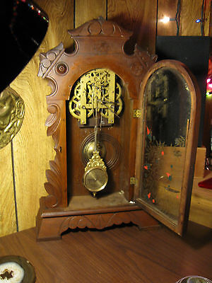 Antique New Haven Striking Clock with brass mechanism