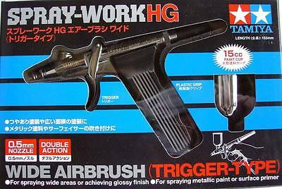 Tamiya 74523 SPRAY-WORK HG WIDE AIRBRUSH TRIGGER-TYPE 0.5mm Nozzle w/15cc-Cup