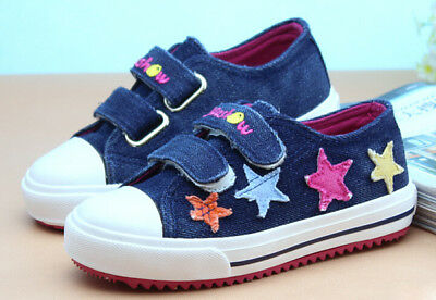 Navy Blue Canvas Shoe with Star