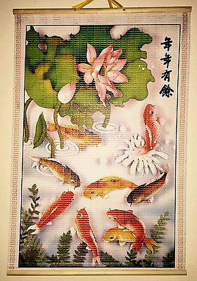 Paper Cane Wall Painting Art Scrolls (Luck Fish)