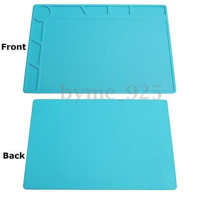 13x9'' Heat Insulation Silicone Pad Desk Mat Maintenance Platform Soldering