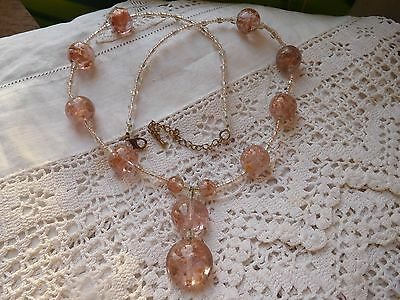 Lovely Vintage 1980s Venetian Glass Bead Necklace