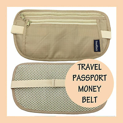 Passport Security Travel Waist Bag Pouch Money Belt Secure Ticket Card Wallet