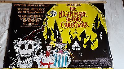 Nightmare before Christmas original double sided movie uk quad poster
