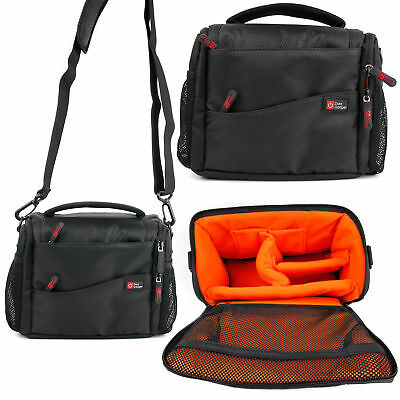 Black & Orange Bag for the Canon Selphy CP1200 Photo Printer Mobile Printer