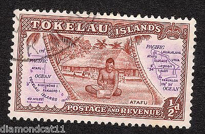 1948 Tokelau 0.5d Brown and Purple SG 1 FINE Used R16729