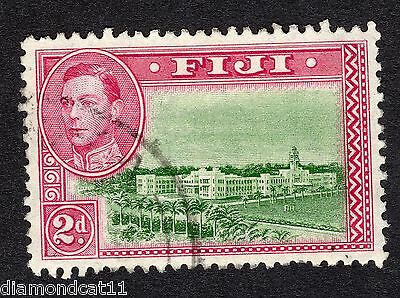 1938 Fiji 2d Green and Mauve Government House SG255 FINE Used R16224