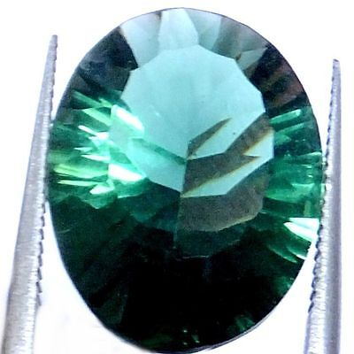 NATURAL EXCELLENT TOP GREEN AMETHYST GEMSTONE (17.8 x 13.1 mm) OVAL CONCAVE-CUT