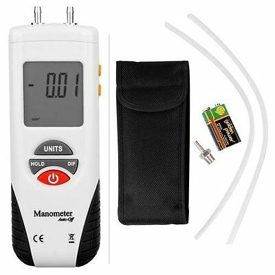 Digital Manometer for Gauge and Differential Pressure from -55 H2O to +55 BNIB