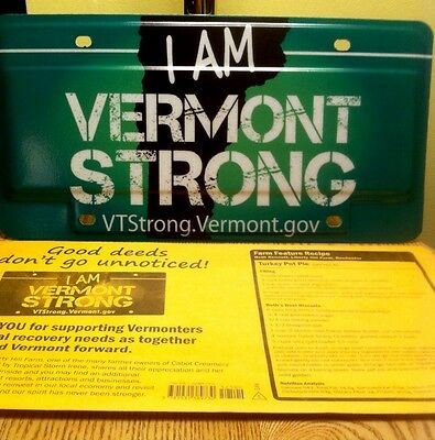 DMV SOLD OUT! 2011 Vermont State License Plate VT Strong Mint NEW Auto Tag ID