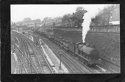 LMS loco No.49149 at CHINLEY in 1952-Proper R/P-P/C glossy photo