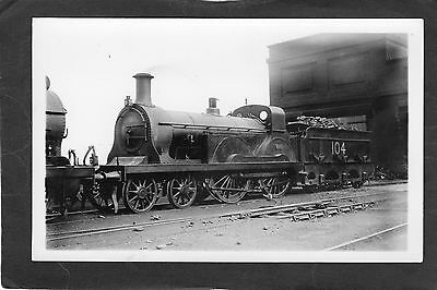 LMS loco No.104 at SLADES GREEN SHED iN 1920-Proper R/P-P/C glossy photo