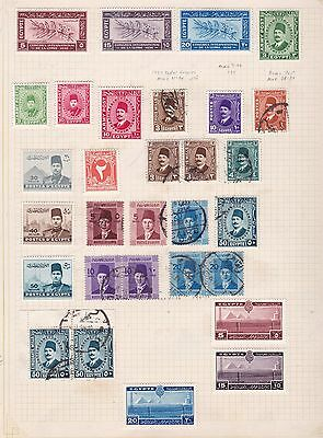 EGYPT ^^^^^^1932-38   mostly  mint collection    $$@f5890xxbegy