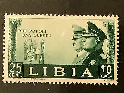 "ITaly LIBYA 1941 From ""WW II-HITLER AND MUSSOLINI""  Sassone 174 $14  MNH"