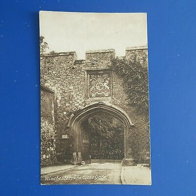 Old Postcard of The Close Gate, Winchester.