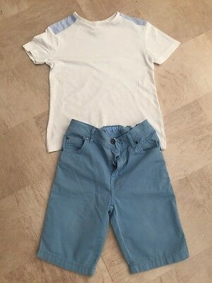 Boys T-Shirt And Shorts Set River Island Age 6 Excellent Condition