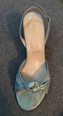 Hobbs Pearlised Leather Twist Front Sandals Size 41 / 6.5