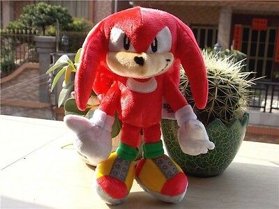 """OFFICIAL Sonic Boom Sonic The Hedgehog Knuckles 25th Anniversary Plush Toy 8"""""""