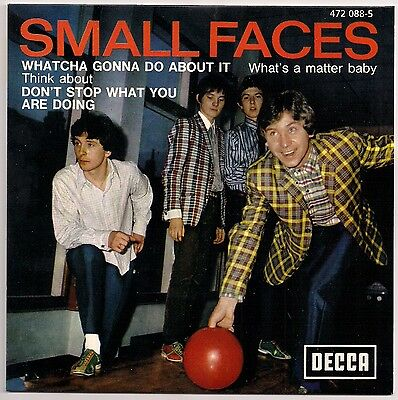 """60's MOD 7"""" FRENCH EP SMALL FACES WHATCHA GONNA DO ABOUT IT DECCA REISSUE"""
