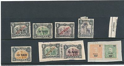 Small collection of early Nyassa stamps