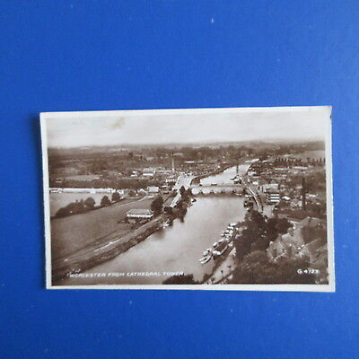 Old Postcard of Worcester from Cathedral Tower.