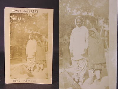 c1919 Photo  Postcard Message Afghan women Sweepers during the Afghan War