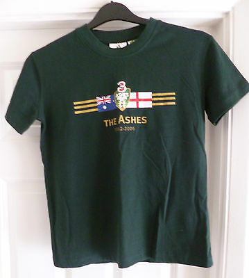 ***new***official Cricket Australia Ashes T-Shirt 1882-2006 - - Size 8 Years Old